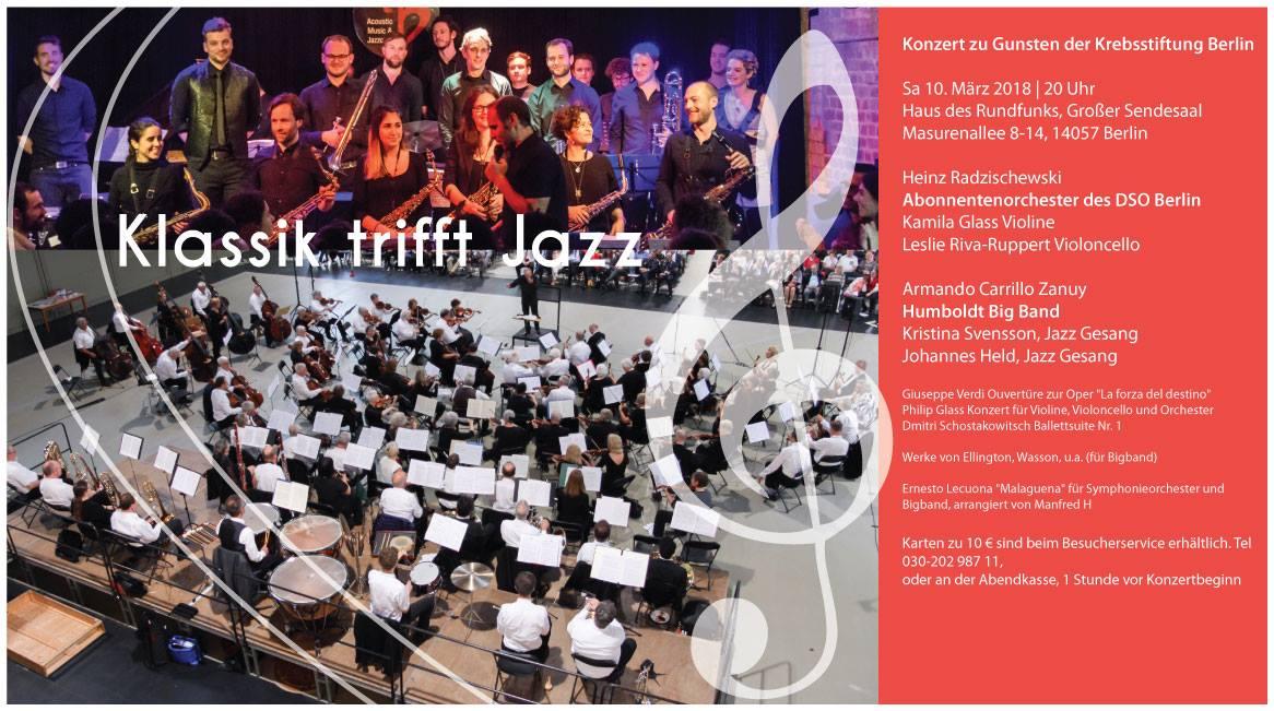 Klassik trifft Jazz: Konzert zu Gunsten der Krebsstiftung Berlin / 10.03.2018 20 Uhr